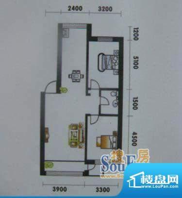 高山明珠2室2厅1卫9面积:93.05平米