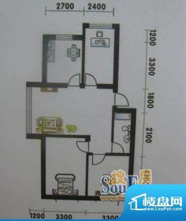 高山明珠3室1厅1卫9面积:92.10平米