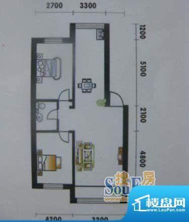 高山明珠2室2厅1卫1面积:105.51平米