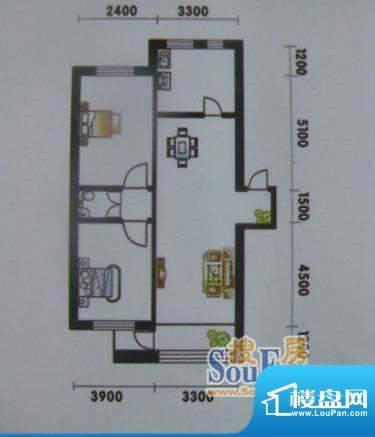 高山明珠2室2厅1卫1面积:107.21平米