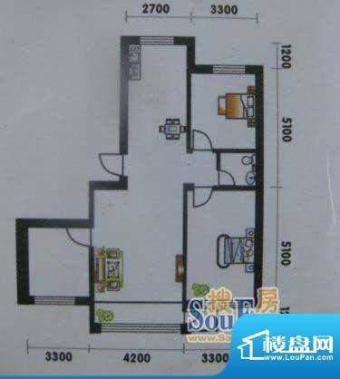 高山明珠3室2厅1卫1面积:105.65平米