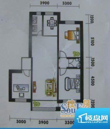 高山明珠3室2厅1卫1面积:121.90平米