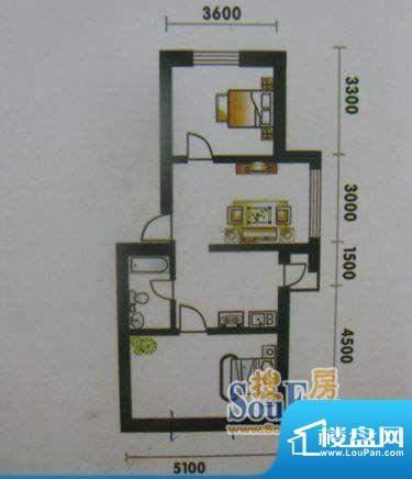 高山明珠2室1厅1卫6面积:66.30平米