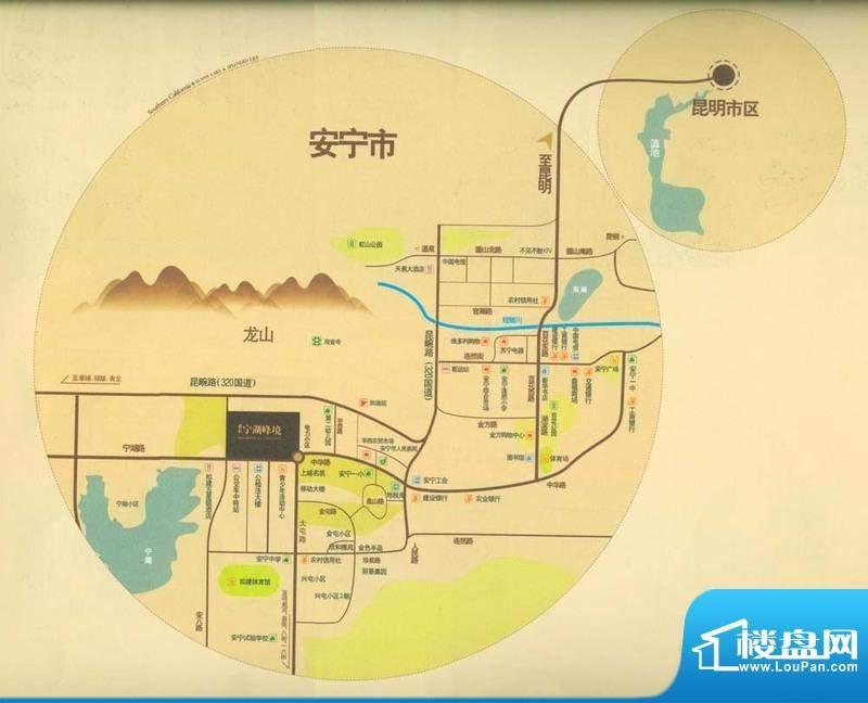保利宁湖峰境交通图