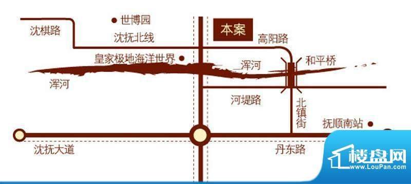 方大上上城交通图