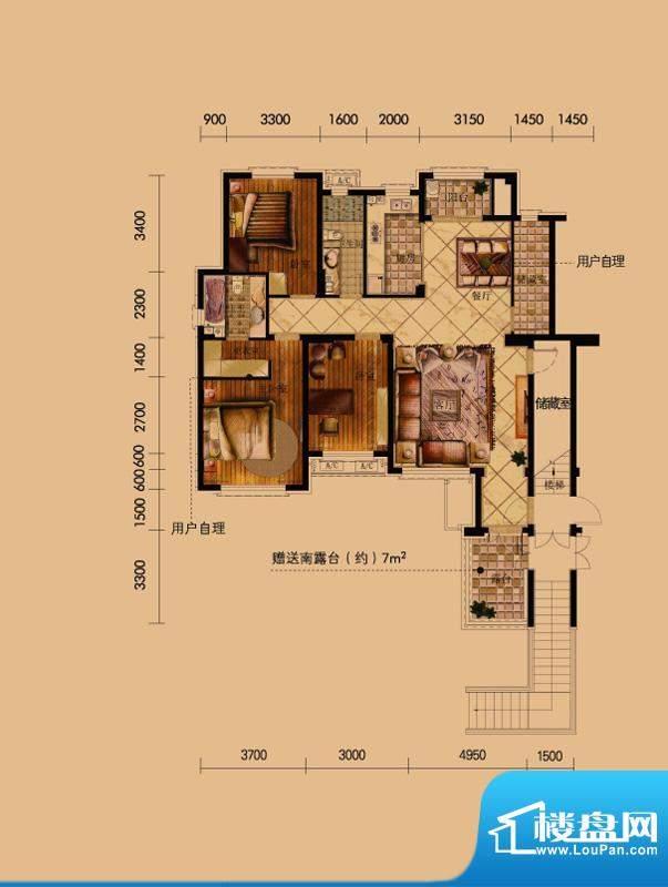 方大上上城二期二层面积:140.00平米