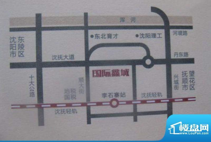 宗裕国际鑫城交通图