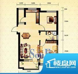 新华国际公寓c户型4面积:79.09平米