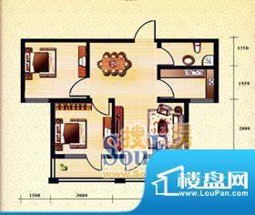 新华国际公寓d户型1面积:71.12平米