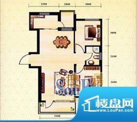 新华国际公寓g户型1面积:93.11平米