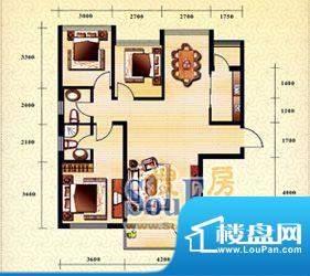 新华国际公寓h户型1面积:31.32平米