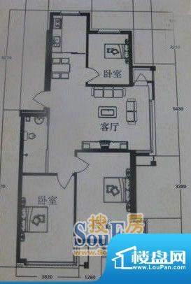 在水一方3#3室2厅1卫面积:122.19平米