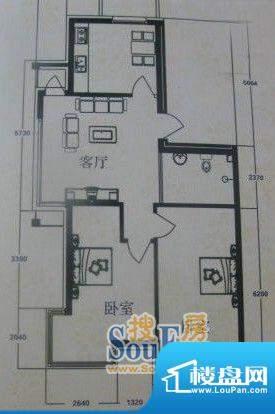 在水一方4#2室2厅1卫面积:93.51平米