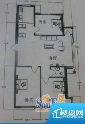 在水一方2#3室2厅1卫面积:133.43平米