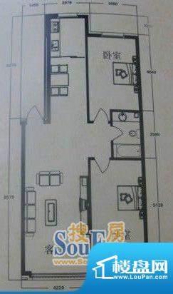 在水一方3#2室2厅1卫面积:104.15平米
