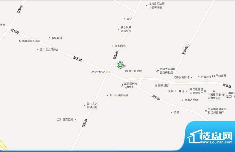 江川财富广场交通图