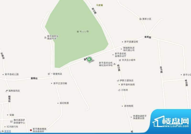 新平县富春居交通图