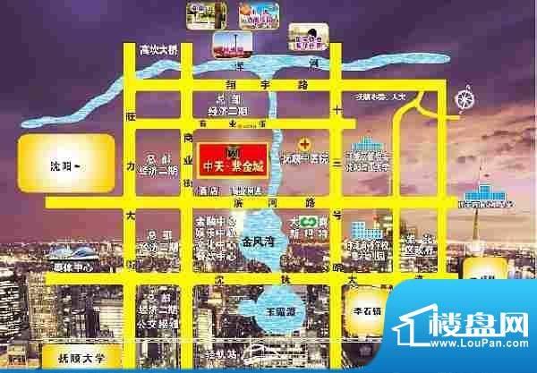 中天·紫金城交通图