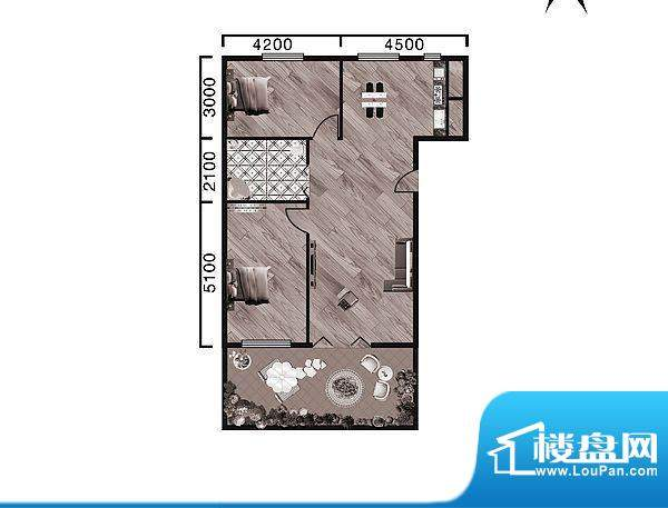 中天·紫金城B--a面面积:106.90平米
