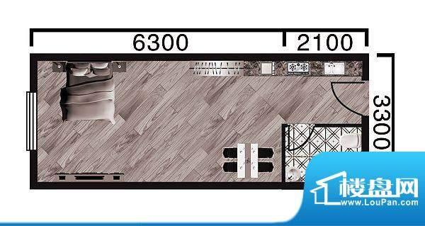 中天·紫金城E--a面面积:37.60平米