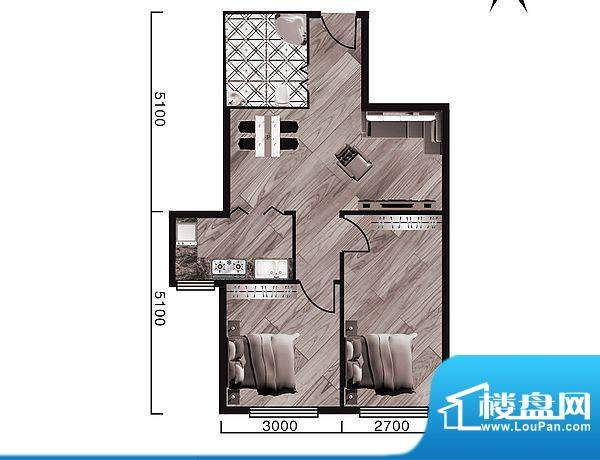 中天·紫金城G--a面面积:73.40平米