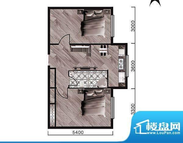 中天·紫金城I--a面面积:69.30平米