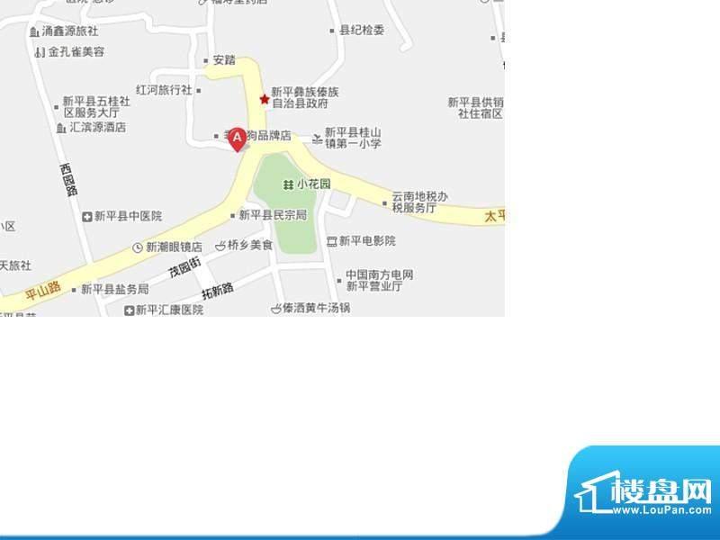 新平商贸城交通图