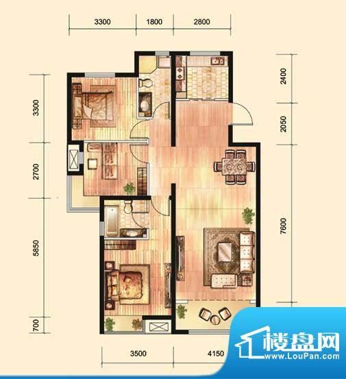 中国水电·海赋外滩面积:127.00平米
