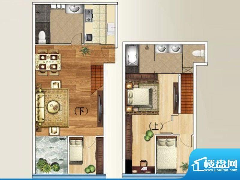 禧瑞都A8户型 3室2厅面积:158.61平米