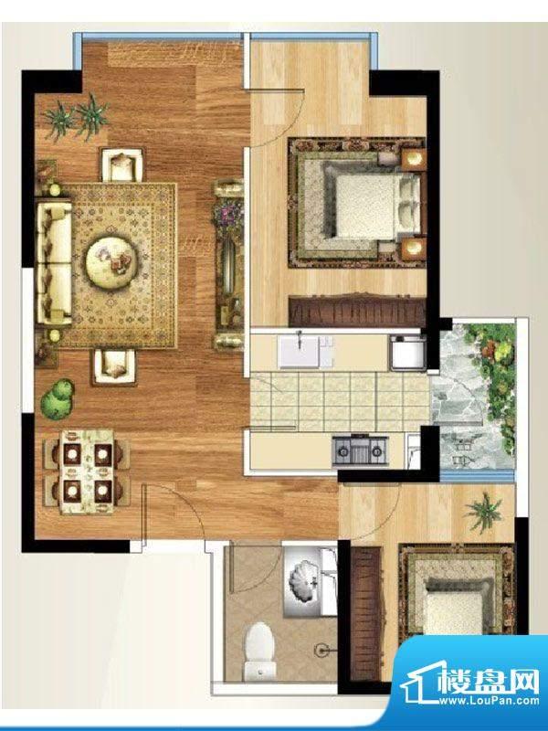 禧瑞都B/C-3户型 2室面积:83.23平米