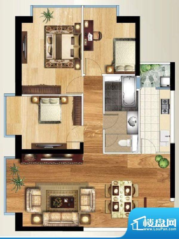 禧瑞都D3户型 3室2厅面积:126.08平米