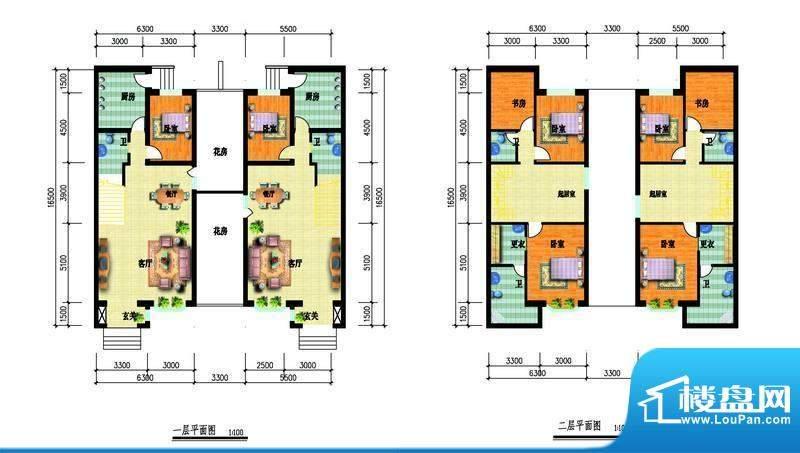 中瑞山水苑e户型图 面积:0.00m平米
