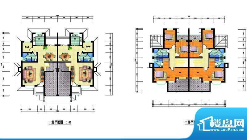中瑞山水苑F户型图 面积:0.00m平米