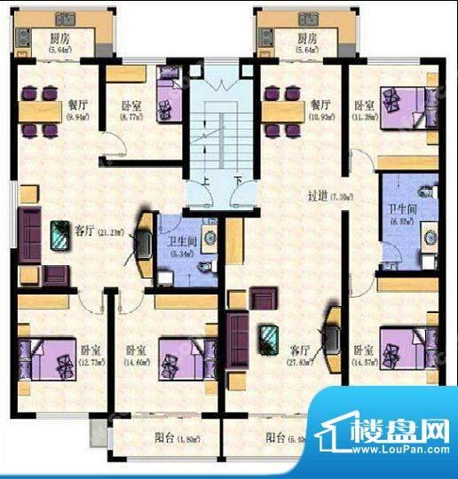 华新园三室两厅 3室面积:0.00m平米