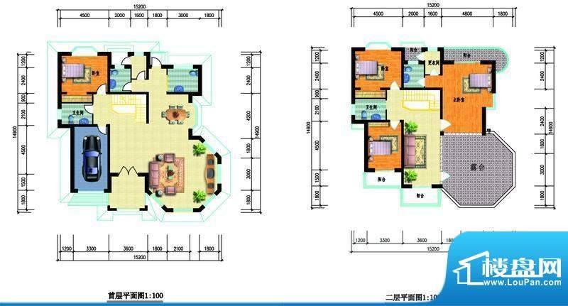 中瑞山水苑g户型图 面积:0.00m平米