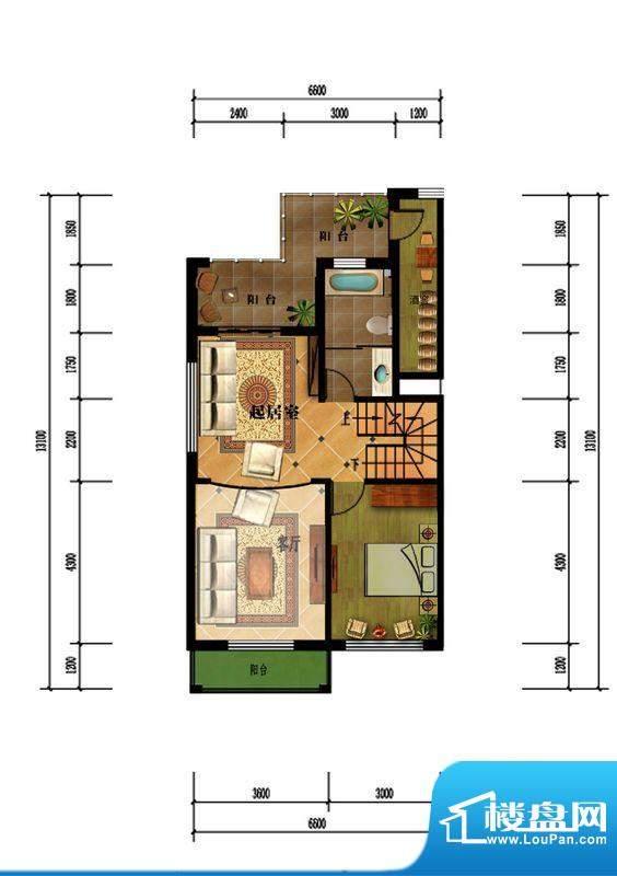 观澜墅阳光叠墅四层面积:0.00m平米