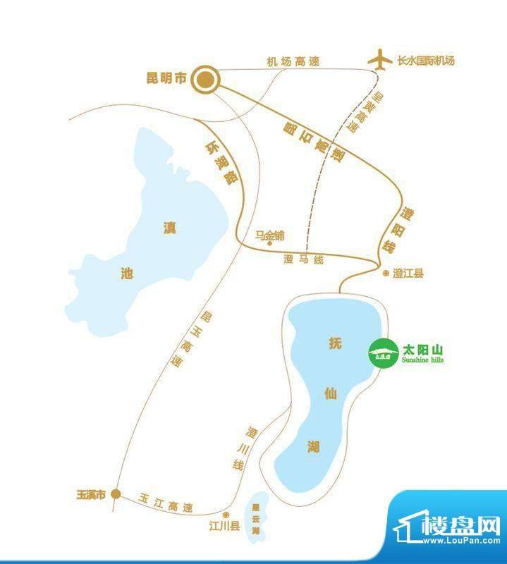 太阳山交通图