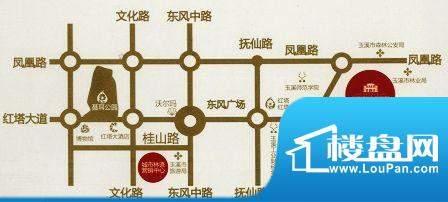 城市林语交通图