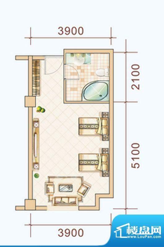 西双版纳雨林大酒店面积:42.83平米
