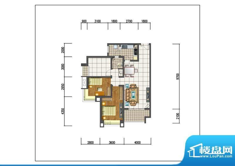 新晋世家A06-M01-A户面积:0.00m平米