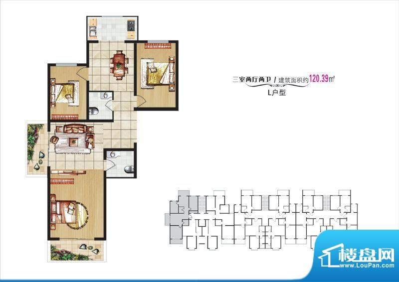 学院·翠湖风尚8#楼面积:120.39m平米