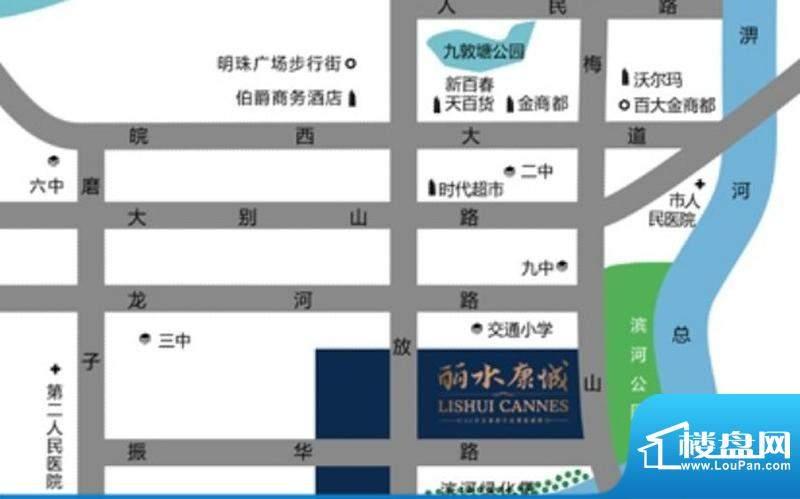 丽水康城交通图