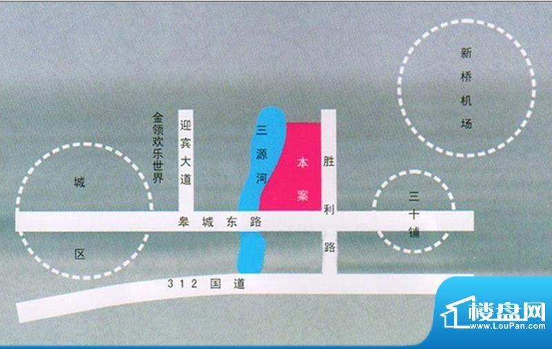 三元山庄交通图