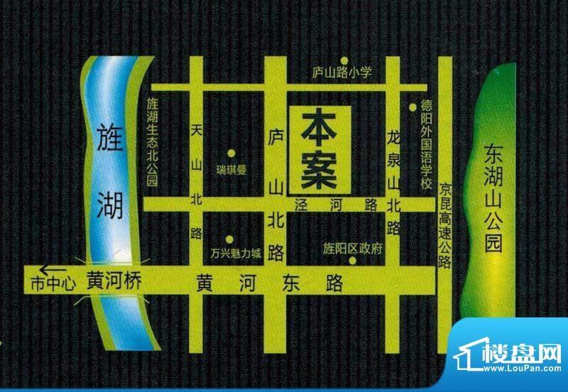 上东风景二期交通图