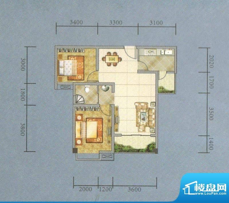 建业·阿里阳光A-B户面积:77.78平米