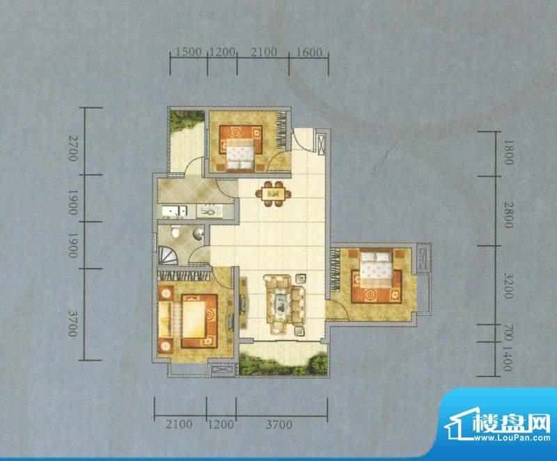 建业·阿里阳光B-A户面积:92.85平米