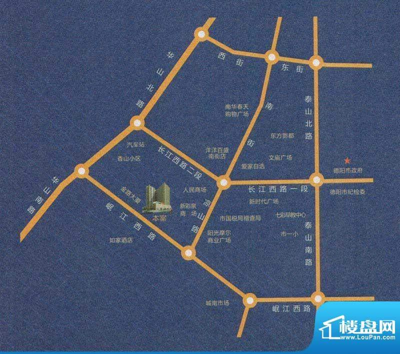 新里程尊域交通图