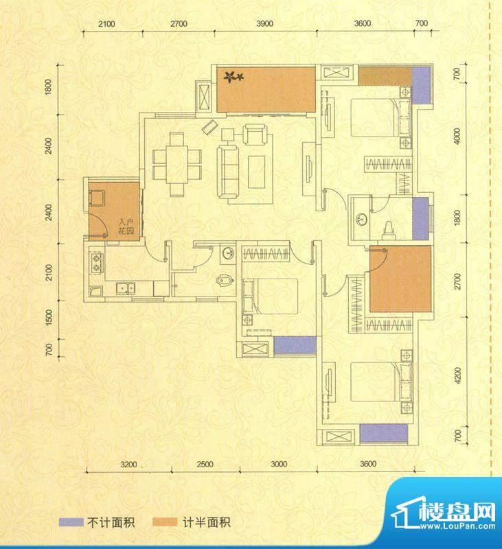 世家城南一号B2-5 户面积:126.13平米