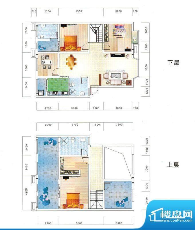 鼎虹·蓝城A1户型图面积:161.91平米
