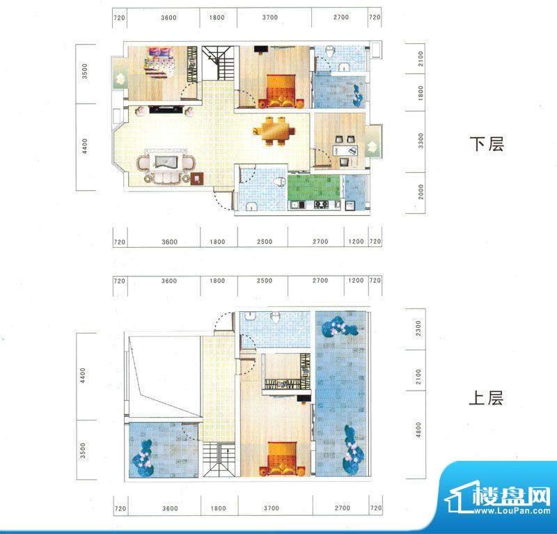 鼎虹·蓝城D1户型图面积:165.68平米